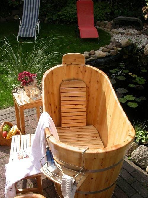 Holzbadewanne selber bauen badewanne selber bauen holz - Tauchbecken im garten ...